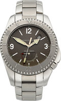 Timepieces:Wristwatch, Girard Perregaux Ref. 4990 Sea Hawk II Diver's Watch With Power Indicator. ...