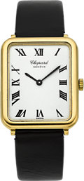 Timepieces:Wristwatch, Chopard Ref. 2024 18k Gold Gent's Wristwatch. ...