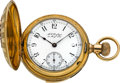 Timepieces:Pocket (pre 1900) , Waltham 18k Gold Five Minute Repeater, circa 1888. ...