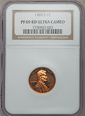 Proof Lincoln Cents, 1969-S 1C PR69 Red Ultra Cameo NGC. NGC Census: (27/0). PCGS Population (48/0). Numismedia Wsl. Price for problem free NGC...