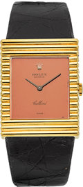 Timepieces:Wristwatch, Rolex Ref. 4012 Fine 18k Gold Cellini. ...
