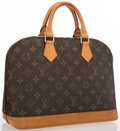 """Luxury Accessories:Bags, Louis Vuitton Classic Monogram Canvas Alma PM Bag. Good to VeryGood Condition . 12.5"""" Width x 9.5"""" Height x 6""""Depth,..."""