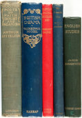 Books:Reference & Bibliography, [English Literature]. Group of Five Books. Various publishers anddates. ... (Total: 5 Items)