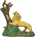 Antiques:Toys, Lion and Two Monkeys Mechanical Bank...
