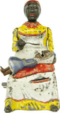 Antiques:Toys, Mammy and Child Mechanical Bank - Yellow Dress...