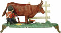 Antiques:Toys, Milking Cow Mechanical Bank...