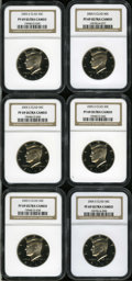 Proof Kennedy Half Dollars, (6)2005-S 50C Clad PR 69 Deep Cameo NGC. ... (Total: 6 coins)