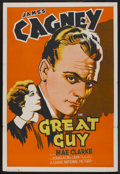 "Movie Posters:Drama, Great Guy (Grand National, 1936). One Sheet (28"" X 41""). Drama. ..."