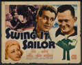 "Movie Posters:Comedy, Swing it Sailor (Grand National, 1937). Half Sheet (22"" X 28""). Comedy. ..."