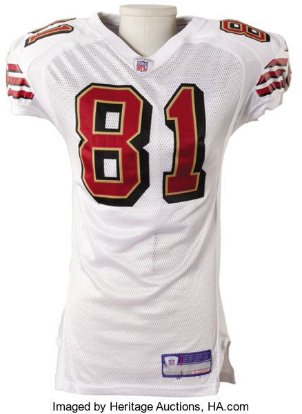 separation shoes abd1a 9cbca 2003 Terrell Owens Game Worn Jersey. Road white San ...