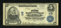 National Bank Notes:Maine, Bangor, ME - $5 1902 Plain Back Fr. 598 The First NB Ch. # 112. ...