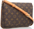 "Luxury Accessories:Bags, Louis Vuitton Classic Monogram Canvas Musette Tango PM Bag. VeryGood to Excellent Condition . 10"" Width x 7.5"" Height..."