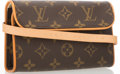 "Luxury Accessories:Bags, Louis Vuitton Classic Monogram Canvas Twin Waist Bag. ExcellentCondition. 6.5"" Width x 4"" Height x 1.75"" Depth, 45""A..."