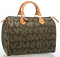 """Luxury Accessories:Accessories, Louis Vuitton Limited Edition Graffiti Canvas Speedy 30 Bag by Stephen Sprouse. Excellent Condition. 11"""" Width x 9"""" He..."""