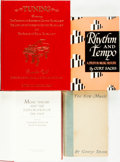 Books:Music & Sheet Music, [Music.] Group of Four Books about Music Theory. Various publishers and dates.... (Total: 4 Items)