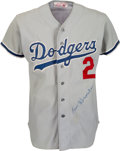 Baseball Collectibles:Uniforms, Circa 1980 Los Angeles Dodgers Game Worn Jersey Attributed to Tommy Lasorda....