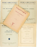 Books:Music & Sheet Music, [Music.] Group of Five Books of Sheet Music. Various publishers and dates.... (Total: 5 Items)