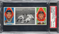 Baseball Cards:Singles (Pre-1930), 1912 T202 Hassan Good Play At Third Cobb/Moriarty PSA NM-MT 8 - Pop Three, None Higher....