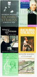 Books:Music & Sheet Music, [Music.] Group of Six Books Related to Music Composers. Variouspublishers and dates.... (Total: 6 Items)