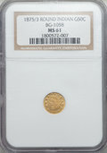 California Fractional Gold: , 1875/3 50C Indian Round 50 Cents, BG-1058, R.3, MS61 NGC. NGCCensus: (5/12). PCGS Population (9/105). ...