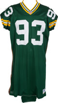 Football Collectibles:Uniforms, 1996 Gilbert Brown Game Worn, Signed Green Bay Packers Jersey - Super Bowl XXXI Season!...