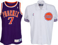 Basketball Collectibles:Uniforms, 1990-91 Kevin Johnson Game Worn Phoenix Suns Jersey, Shorts andWarm Up Jacket....