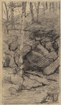Works on Paper, JULIAN ONDERDONK (American, 1882-1922). Central Park, New York, 1901. Pencil on paper. 5-7/8 x 3-5/8 inches (14.9 x 9.2 ...
