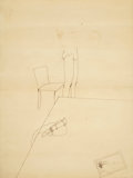 Fine Art - Work on Paper:Drawing, DAVID HOCKNEY (British, b. 1937). Underwear. Pen on paper.24 x 18 inches (61.0 x 45.7 cm). ...