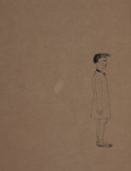 Fine Art - Work on Paper:Drawing, DAVID HOCKNEY (British, b. 1937). A Man Waiting. Ink onpaper. 11 x 8-1/2 inches (27.9 x 21.6 cm) (sight). ...