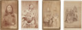 American Indian Art:Photographs, FOUR CARTE-DE-VISITES OF SPOTTED TAIL AND FAMILY... (Total:4 )
