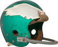 Football Collectibles:Helmets, 1974 Roman Gabriel Game Worn Philadelphia Eagles Helmet -Photomatched!...