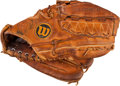 Baseball Collectibles:Others, 1970's Gaylord Perry Game Used Fielder's Glove....