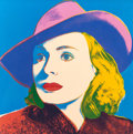 Post-War & Contemporary:Pop, ANDY WARHOL (American, 1928-1987). Ingrid Bergman: With Hat,1983. Screenprint in colors. 38 x 38 inches (96.5 x 96.5 cm...
