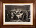 Antiques:Decorative Americana, Abraham Lincoln: Artist-Signed Deathbed Scene....