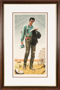 Antiques:Decorative Americana, Abraham Lincoln: Norman Rockwell Signed Print.... (Total: 2 Items)
