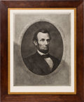 Antiques:Decorative Americana, Abraham Lincoln: Oversized Engraving by Gugler....