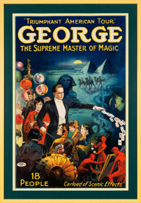 George the Magician: Large and Colorful Poster