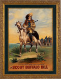 "Western Expansion:Cowboy, William F. Cody ""Buffalo Bill"": Original Artwork. ..."