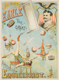 Entertainment Collectibles:Circus, American Circus Performer: Edward Earle Poster....