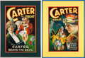 Entertainment Collectibles:Theatre, American Magicians: Carter the Great Posters.... (Total: 2 Items)
