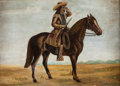 "Art, Wm. F. ""Buffalo Bill"" Cody: A Charming 1886-dated Oil on CanvasPortrait in Original Frame...."