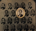 Political:Ferrotypes / Photo Badges (pre-1896), Abraham Lincoln et al: Uncut Sheet of 1860 Campaign Ferrotypes....