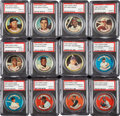Baseball Cards:Sets, 1964 Topps Baseball Coins Complete Set (164) Plus All ThreeVariations - All Graded PSA NM-MT 8! ...