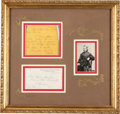 "Autographs:Military Figures, George Armstrong Custer Autograph Letter Signed ""Autie."" ..."