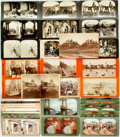 Photography:Stereo Cards, [Photography]. Group of Thirty-Four Stereo Cards. Various publishers and dates. ...