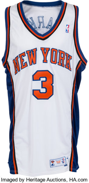purchase cheap 6a3f0 f6778 1997-98 John Starks Game Worn, Signed New York Knicks Jersey ...
