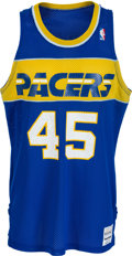 Basketball Collectibles:Uniforms, 1986-87 Chuck Person Game Worn Indiana Pacers Rookie Jersey andShorts....
