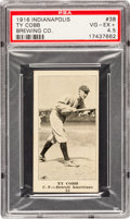 Baseball Cards:Singles (Pre-1930), 1916 Indianapolis Brewing Ty Cobb #38 PSA VG-EX+ 4.5....