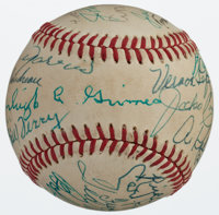 Hall of Famers Multi Signed Baseball (23 Signatures)
