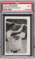 Baseball Cards:Singles (1940-1949), 1947 Bond Bread Jackie Robinson/Batting, No Sleeves PSA EX 5 - PopThree, Two Higher. ...